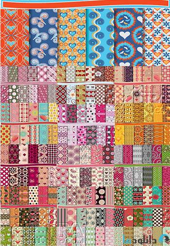 Scrapbook Seamless Patterns  دانلود تصاویر وکتور  Scrapbook Seamless Patterns