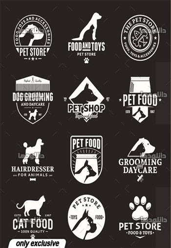 Set-of-vector-pet-logo