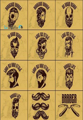 Set-of-vintage-barber-shop