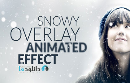 Snowy Animated Overlay in P دانلود طرح لایه باز افکت برف – Snowy Animated Overlay in Photoshop