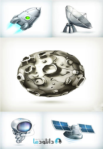 Space Objects  دانلود تصاویر وکتور  Space Objects