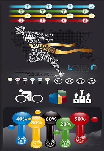 Sport Infographic Vector Stock  دانلود تصاویر وکتور  Sport Infographic Vector Stock