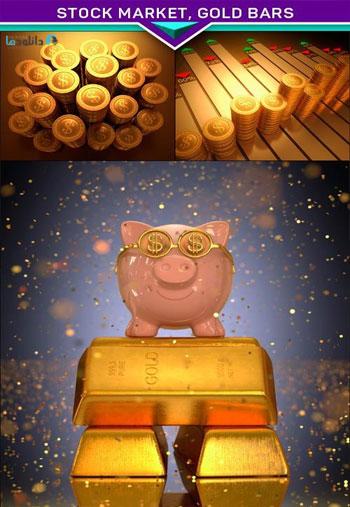 Stock-Market-Gold-Bars
