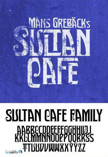Sultan Cafe Font Family دانلود مجموعه فونت انگليسي Sultan Cafe Font Family