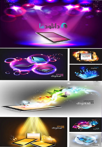 Tablet And Compfffuter  دانلود تصاویر وکتور  Tablet And Computer
