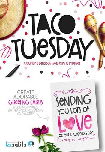 Taco Tuesday Typeface دانلود مجموعه فونت انگلیسی Taco Font Family