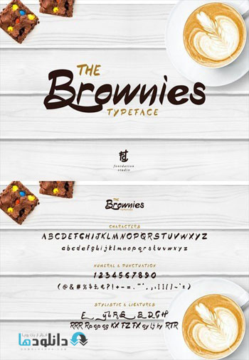 The Brownies Typeface دانلود مجموعه فونت انگلیسی Brownies Font Family