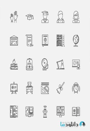 مجموعه-آیکون-the-school-outline-icons