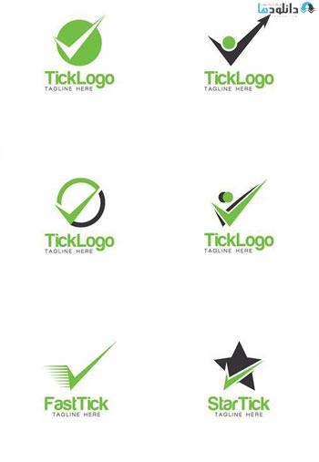 Tick Creative Concept Logo   دانلود مجموعه آیکون Tick Creative Concept
