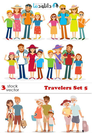Travelers Set 5 Vector  دانلود مجموعه وکتور Travelers Set