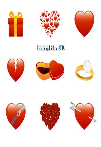 Valentines.Day.Vector.Icons  دانلود آیکون  Valentines Day Vector Icons