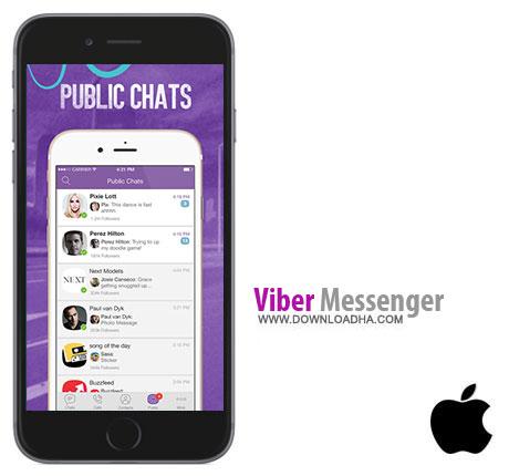 Viber  نرم افزار ارتباطی وایبر Viber 5.4  – آیفون و آیپد