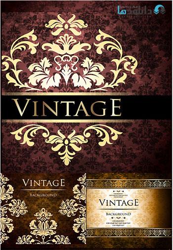 Vintage Ornate Greeting Card  دانلود تصاویر وکتور  Vintage Ornate Greeting Card