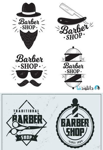 Vintage-flat-barber-shop-logo