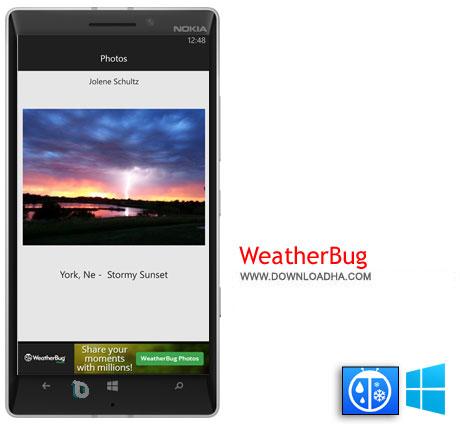 WeatherBug 2014 دانلود  برنامه WeatherBug   ویندوز فون