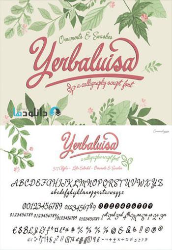 Yerbaluisa-calligraphic