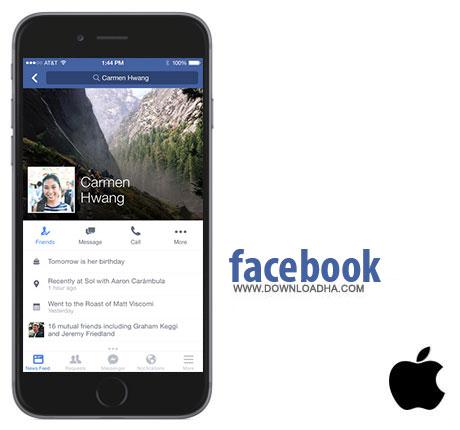 face  نرم افزار فیس بوک Facebook v33.0 – آیفون و آیپاد