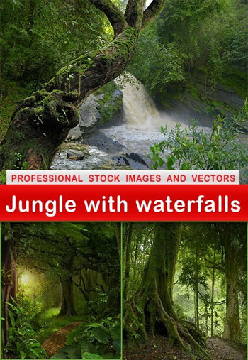 jungle-with-waterfalls
