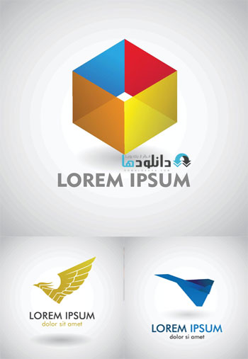 logo vector  دانلود مجموعه ای از وکتور آرم و لوگوی مفهومی   Logo Design Concept