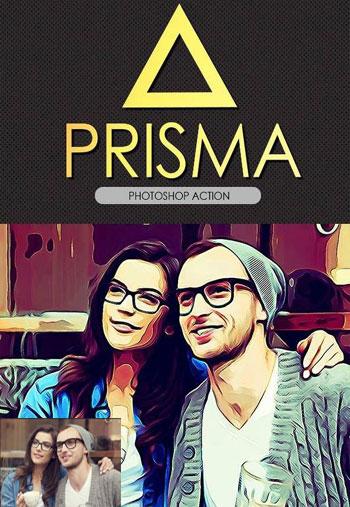 prisma دانلود اکشن فتوشاپ  prisma Photoshop Action