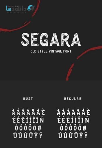 فونت انگلیسی Segara