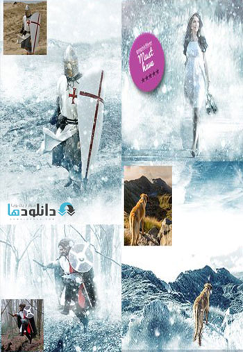 snow is coming  دانلود اکشن  GraphicRiver Winter Is Coming Photoshop Snowing Effect Action
