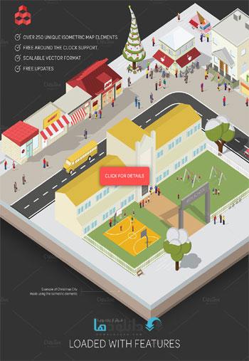 structure  دانلود تصاویر وکتور  CM Isometric City Maps Builder