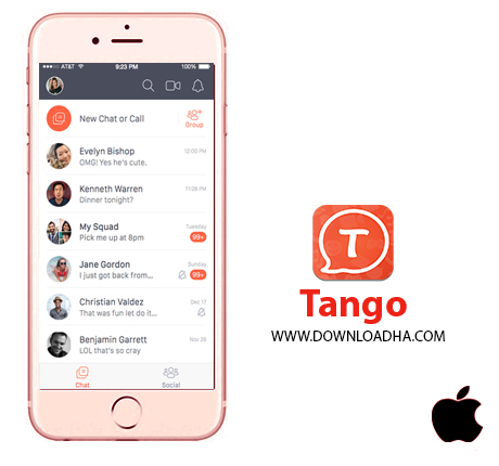 tango  نرم افزار تانگو Tango v3.21   آیفون