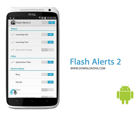 Flash Alerts 2 Cover%28Downloadha.com%29 دانلود نرم افزار مدیریت فلش گوشی های اندروید Flash Alerts 2 v2.1.4 برای اندروید