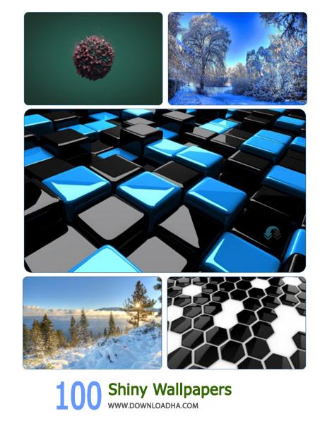 100 Shiny Wallpapers Cover(Downloadha.com) دانلود مجموعه 100 والپیپر درخشان و زیبا