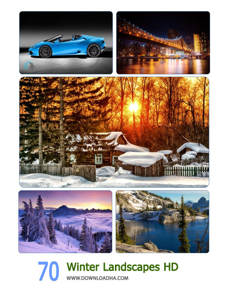 70 Winter Landscapes HD Wallpapers Cover(Downloadha.com) دانلود مجموعه 70 والپیپر عریض زمستان