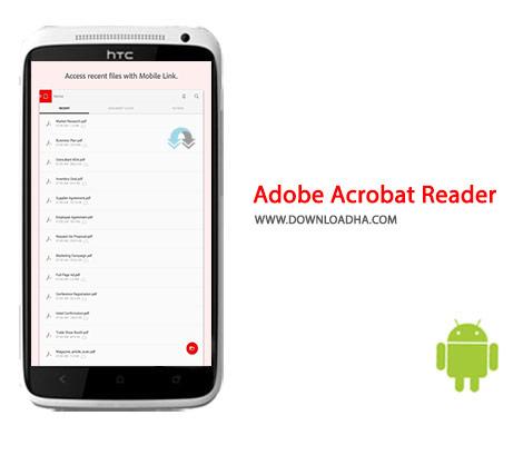 Adobe Acrobat Reader Cover(Downloadha.com) دانلود نرم افزار ادوب آکروبات ریدر Adobe Acrobat Reader 16.2.1   اندروید