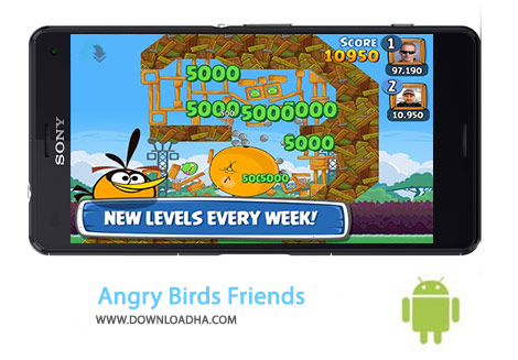 Angry Birds Friends Cover(Downloadha.com) دانلود بازی انگری بردز دوستان Angry Birds Friends 2.6.1   اندروید