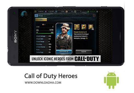 Call of Duty Heroes Cover(Downloadha.com) دانلود آخرین نسخه بازی کال آو دیوتی قهرمانان Call of Duty Heroes 2.3.1 برای اندروید
