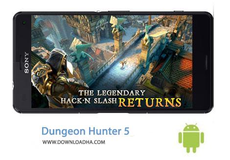 Dungeon Hunter 5 Cover(Downloadha.com) دانلود بازی اکشن و مهیج شکارچی سیاه چال Dungeon Hunter 5 1.7.0f برای اندروید