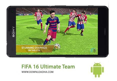 FIFA 16 Ultimate Team Cover(Downloadha.com) دانلود نسخه نهایی بازی فیفا FIFA 16 Ultimate Team 3.2.113645 برای اندروید