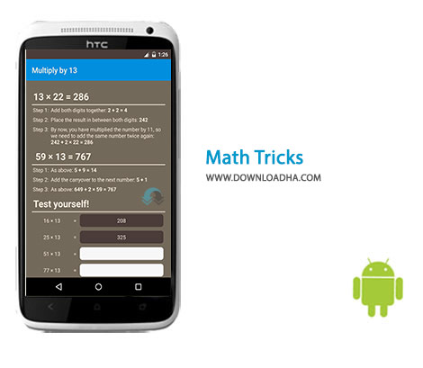 Math Tricks Cover%28Downloadha.com%29 دانلود نرم افزار ترفندهای ریاضی Math Tricks 117 برای اندروید