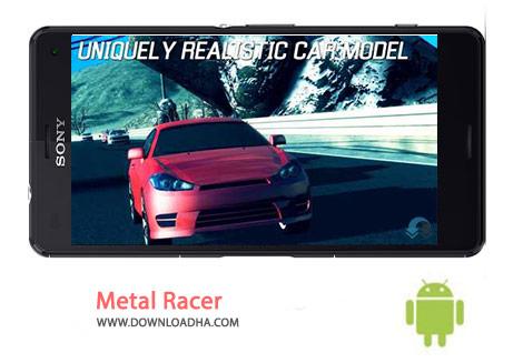 Metal Racer Cover%28Downloadha.com%29 دانلود بازی مهیج مسابقه ای Metal Racer 1.2.2 برای اندروید