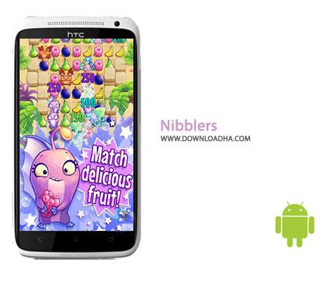 Nibblers Cover%28Downloadha.com%29 دانلود بازی پازل نیبلرز Nibblers 1.8.0 برای اندروید