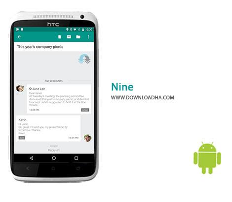 Nine Cover(Downloadha.com) دانلود نرم افزار مدیریت ایمیل چندگانه Nine 3.0.0c   اندروید