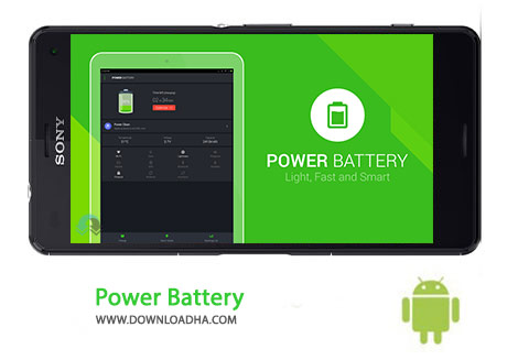 Power Battery Cover%28Downloadha.com%29 دانلود نرم افزار بهینه سازی مصرف باتری Power Battery 1.6.0   اندروید