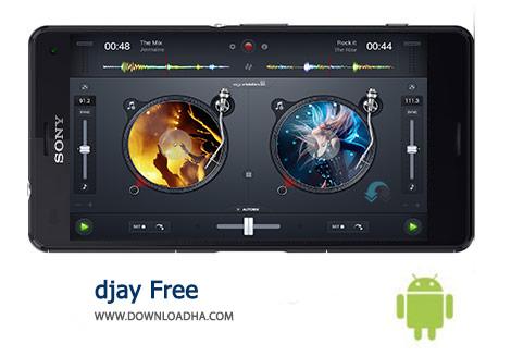 djay Free Cover(Downloadha.com) دانلود نرم افزار آهنگ سازی djay Free 2.2.2 برای اندروید