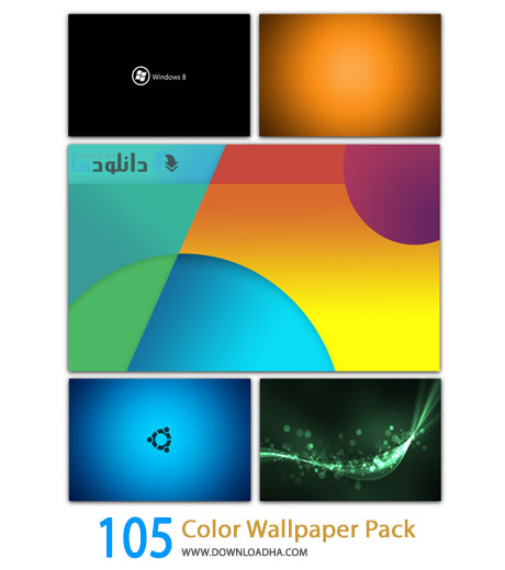 105 Color Wallpaper Pack Cover%28Downloadha.com%29 دانلود مجموعه 105 والپیپر رنگ ها