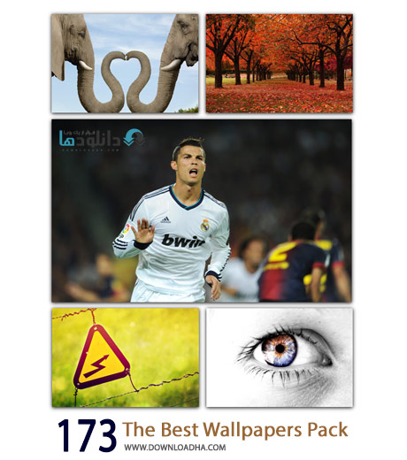 173 The Best Wallpapers Pack Cover%28Downloadha.com%29 دانلود مجموعه 173 والپیپر با کیفیت بالا