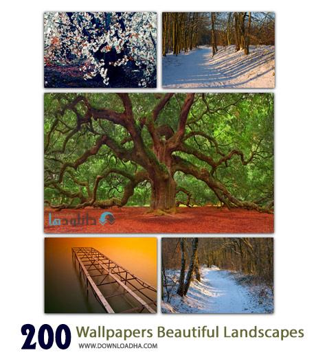 200 Wallpapers Beautiful Landscapes Cover%28Downloadha.com%29 دانلود مجموعه 200 والپیپر عریض از طبیعت زیبای جهان