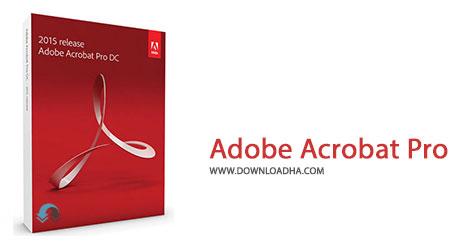 Adobe Acrobat Pro Cover%28Downloadha.com%29 دانلود آخرین نسخه نرم افزار ادوب اکروبات Adobe Acrobat Pro DC 2015.008.20082