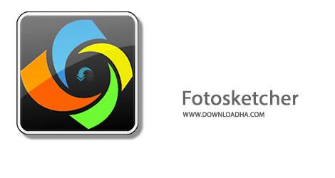 Fotosketcher Cover%28Downloadha.com%29 دانلود نرم افزار تبدیل عکس به نقاشی Fotosketcher v3.10 + Portable
