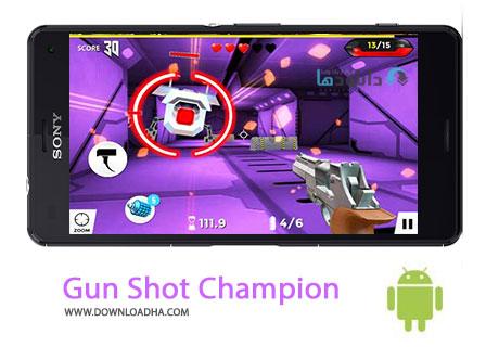 Gun Shot Champion Cover%28Downloadha.com%29 دانلود بازی اکشن و زیبای قهرمان تیراندازی Gun shot Champion 2 v2.0.2 برای اندروید