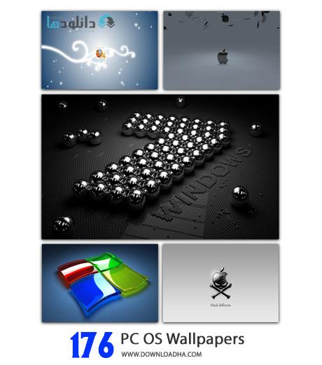 PC OS Wallpapers Cover%28Downloadha.com%29 دانلود مجموعه 176 والپیپر لوگوی ویندوز