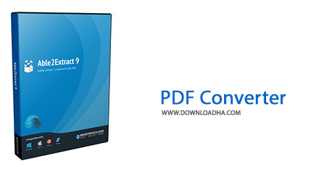 PDF%20Converter Cover%28Downloadha.com%29 دانلود نرم افزار مبدل فایل های پی دی اف Able2Extract PDF Converter v9.0.11.0